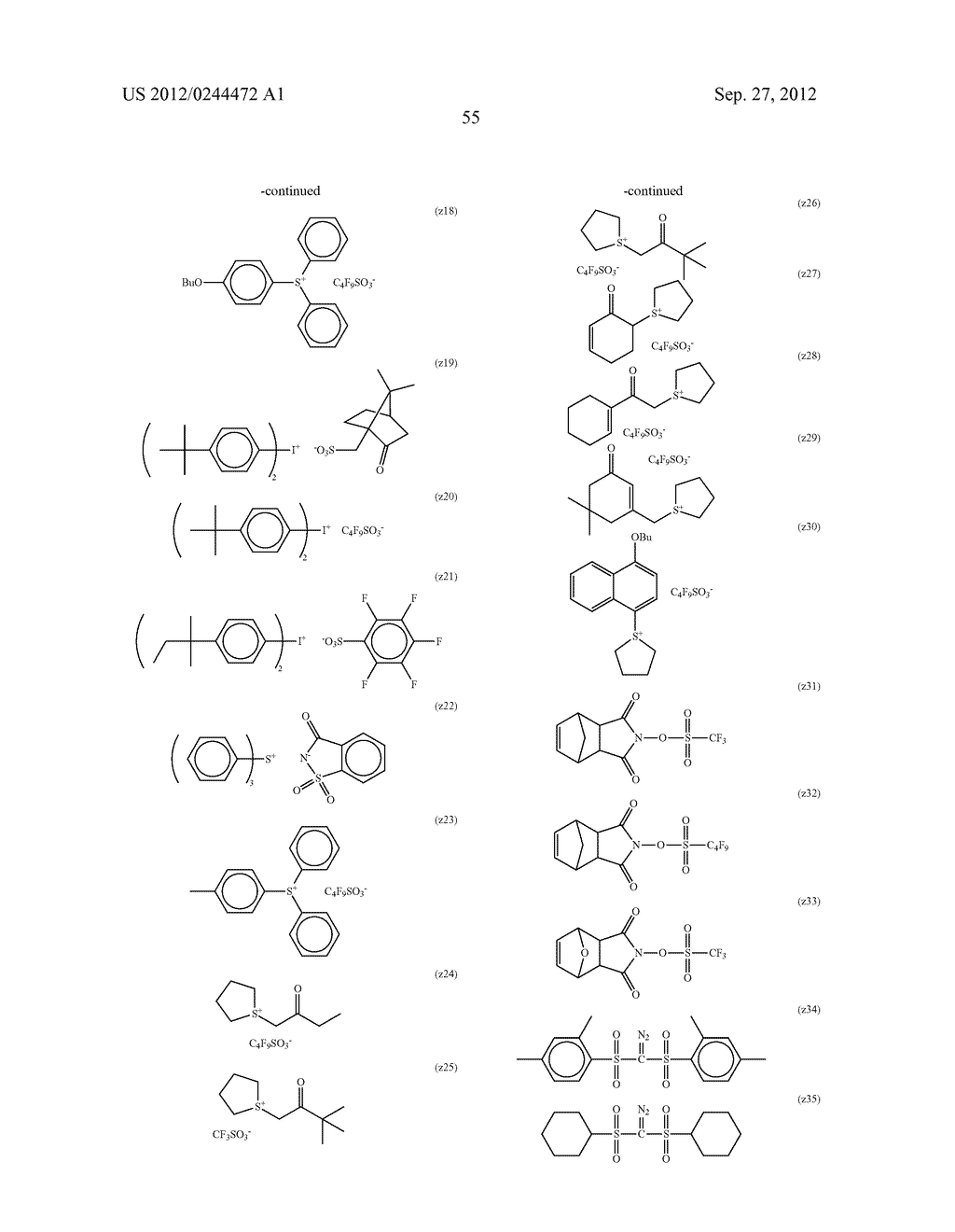 ACTINIC RAY-SENSITIVE OR RADIATION-SENSITIVE RESIN COMPOSITION, FILM     FORMED USING THE COMPOSITION AND PATTERN FORMING METHOD USING THE SAME - diagram, schematic, and image 56