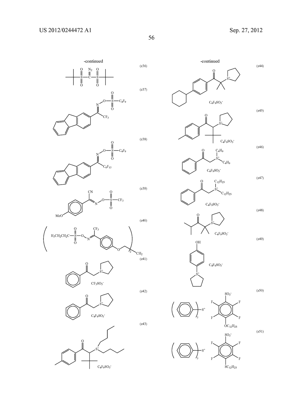 ACTINIC RAY-SENSITIVE OR RADIATION-SENSITIVE RESIN COMPOSITION, FILM     FORMED USING THE COMPOSITION AND PATTERN FORMING METHOD USING THE SAME - diagram, schematic, and image 57