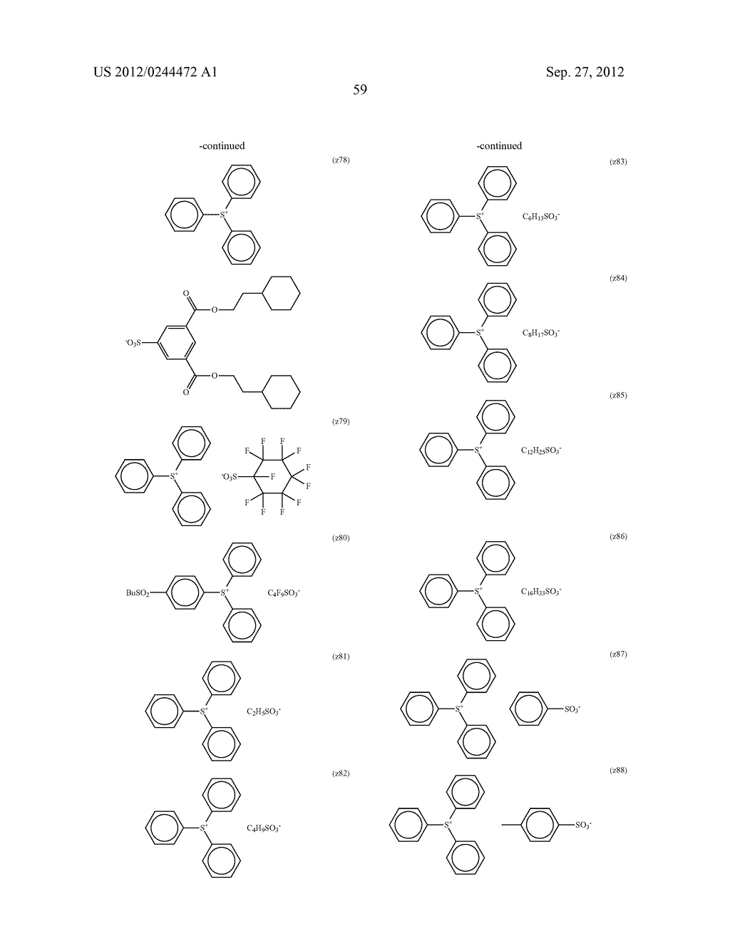 ACTINIC RAY-SENSITIVE OR RADIATION-SENSITIVE RESIN COMPOSITION, FILM     FORMED USING THE COMPOSITION AND PATTERN FORMING METHOD USING THE SAME - diagram, schematic, and image 60
