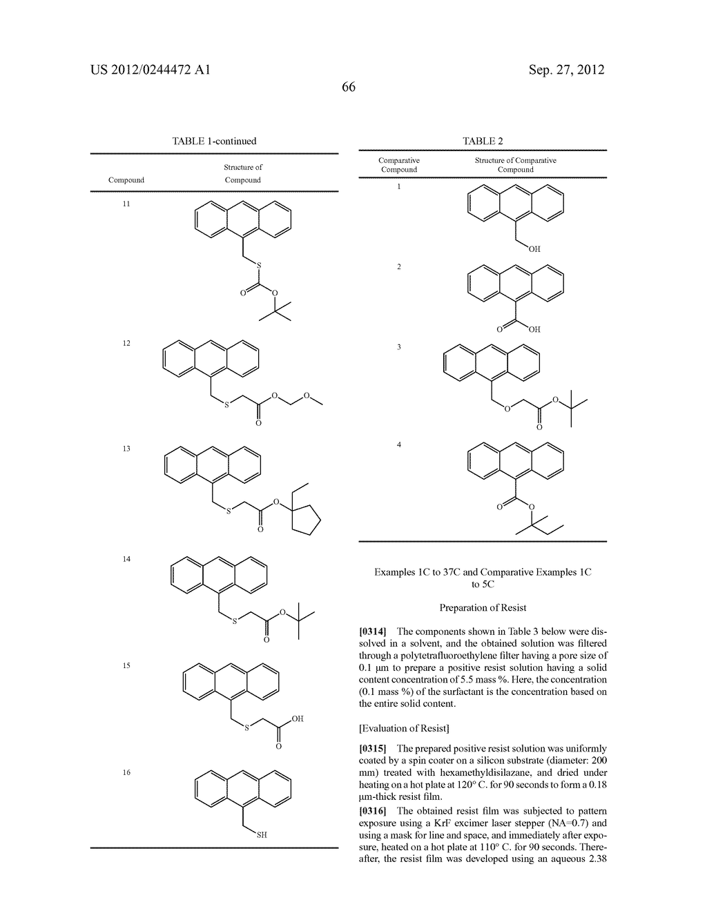 ACTINIC RAY-SENSITIVE OR RADIATION-SENSITIVE RESIN COMPOSITION, FILM     FORMED USING THE COMPOSITION AND PATTERN FORMING METHOD USING THE SAME - diagram, schematic, and image 67
