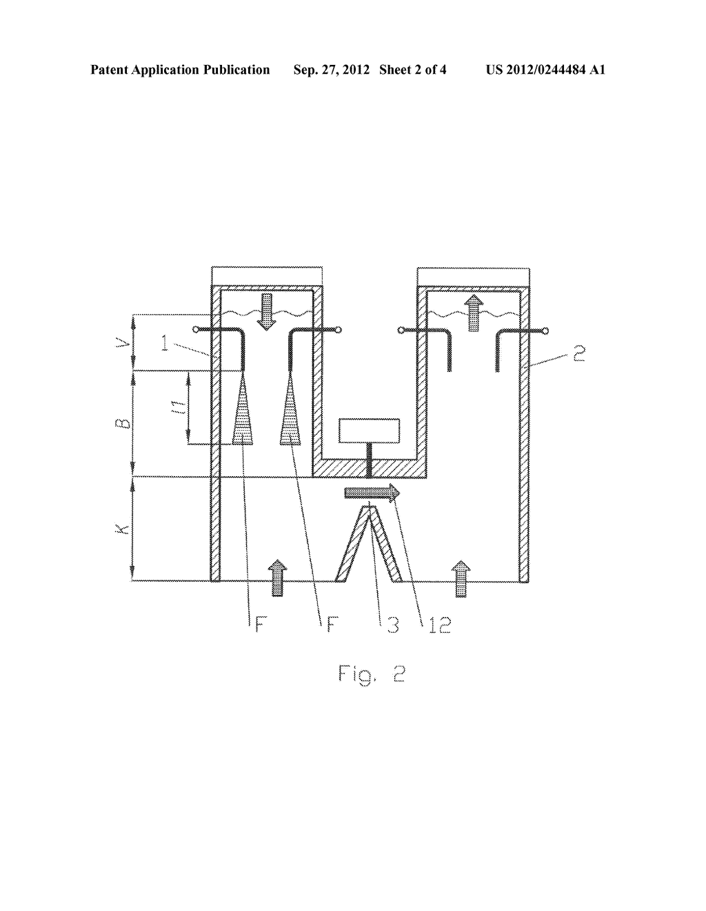 PARALLEL FLOW REGENERATIVE LIME KILN AND METHOD FOR THE OPERATION THEREOF - diagram, schematic, and image 03
