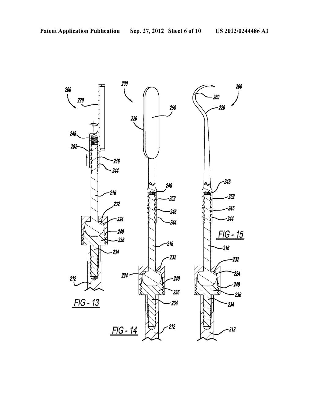 Dental Tool with Adjustable Head - diagram, schematic, and image 07