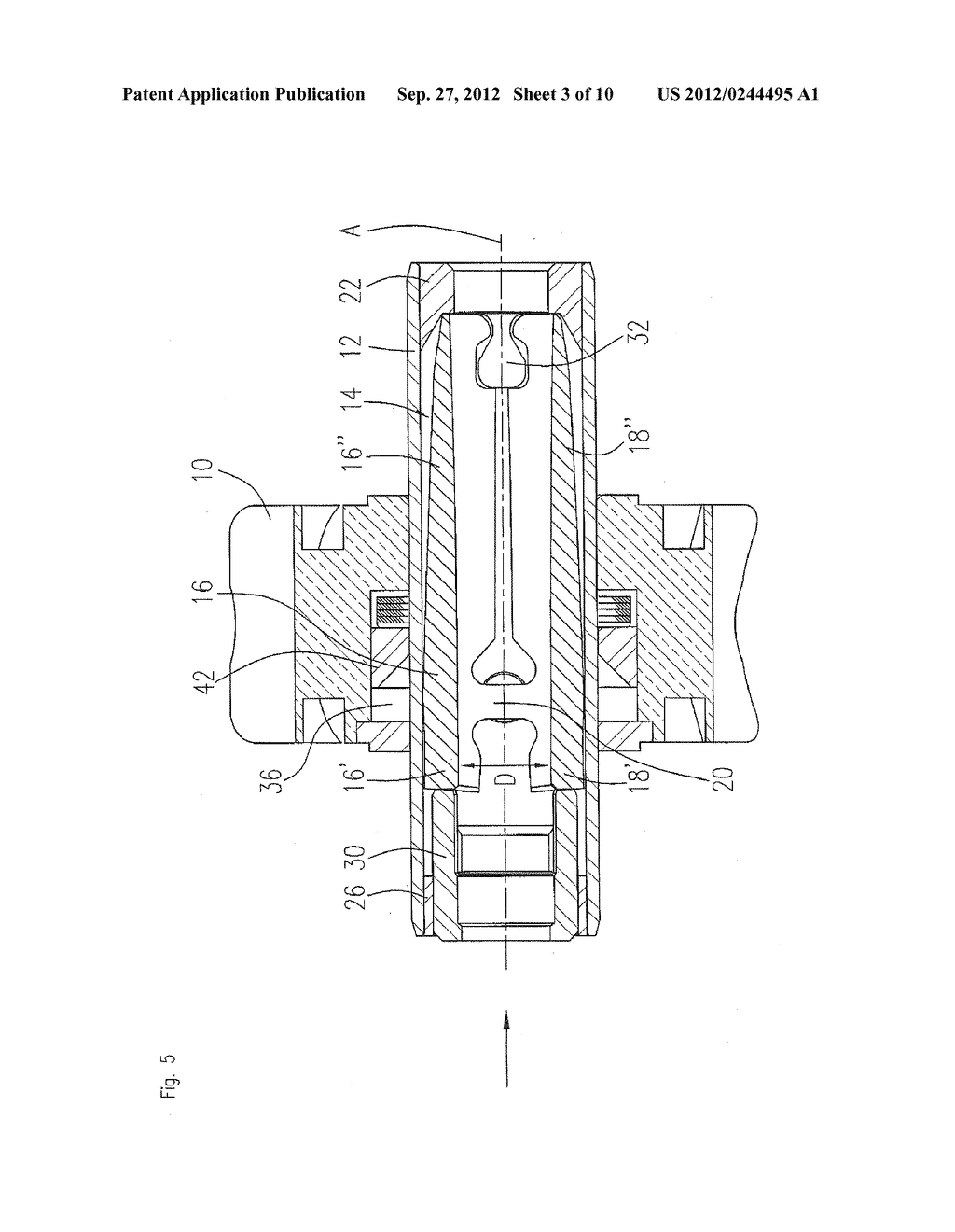 Clamping Device For A Dental Tool in A Dental Turbine Handpiece - diagram, schematic, and image 04