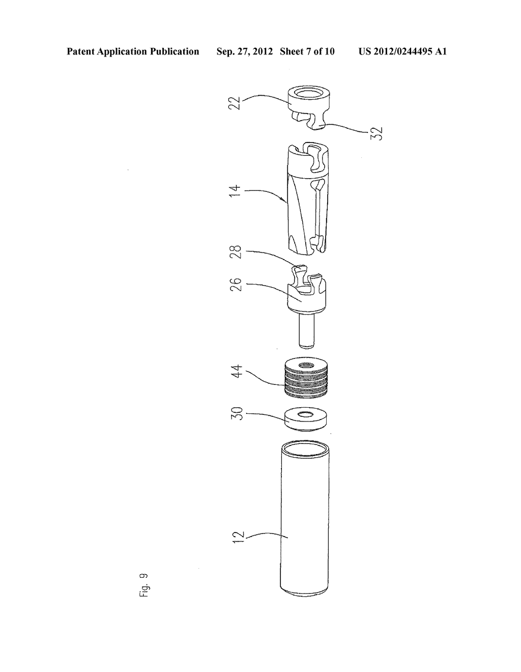 Clamping Device For A Dental Tool in A Dental Turbine Handpiece - diagram, schematic, and image 08