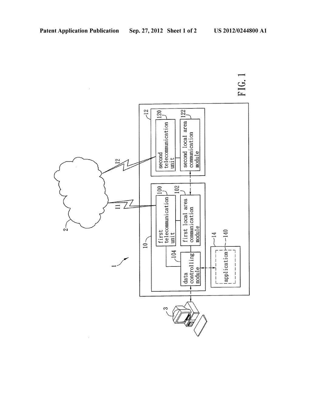 Data Transmitting Method, Data Controlling Module And Mobile Device Using     The Same - diagram, schematic, and image 02