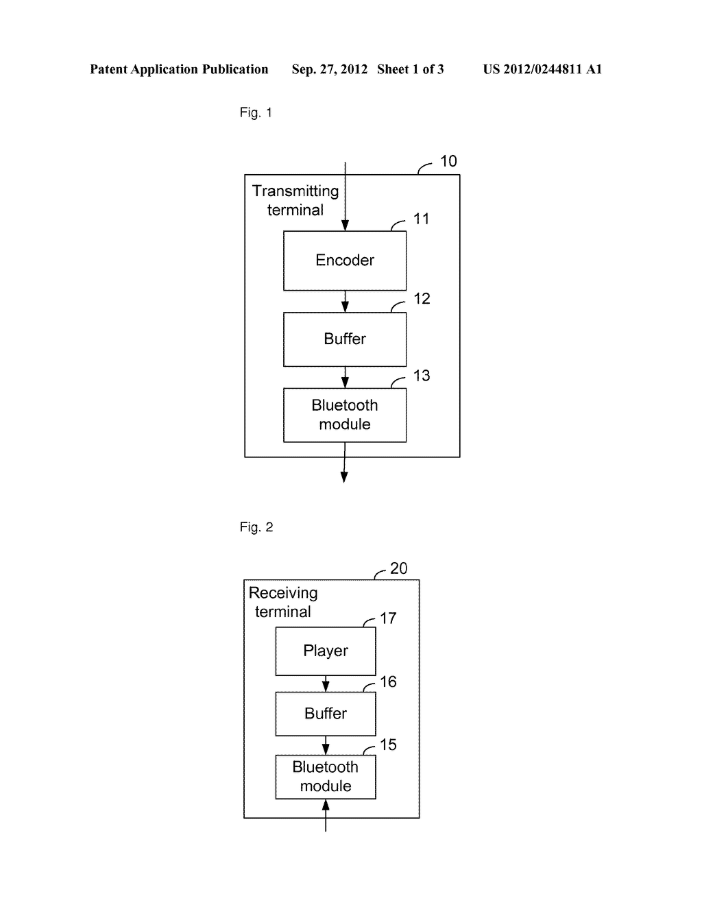 Method, Apparatus and System for Transmitting Multimedia Data by Bluetooth     and Real-Time Playing - diagram, schematic, and image 02