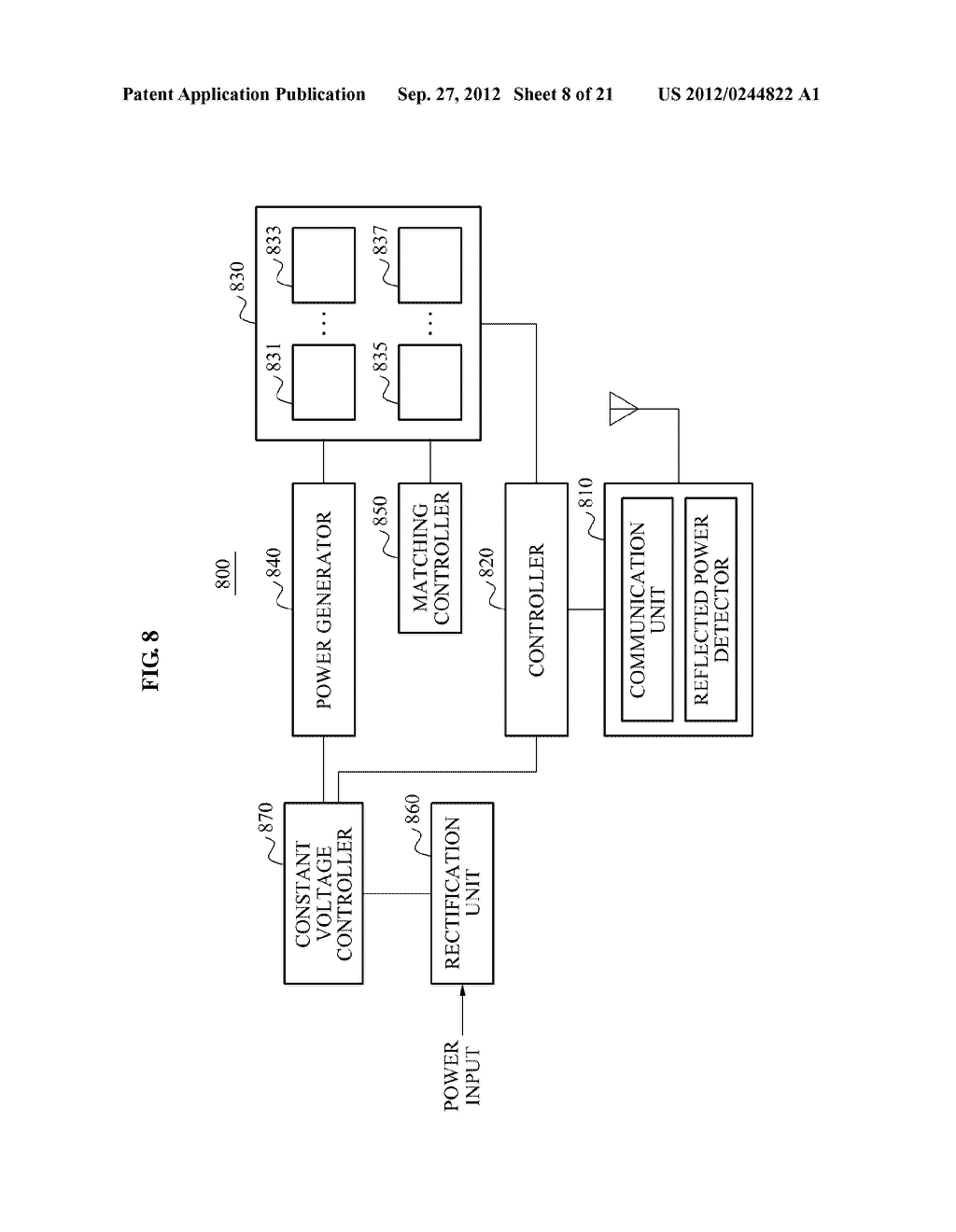 WIRELESS POWER TRANSMISSION SYSTEM, AND METHOD FOR CONTROLLING WIRELESS     POWER TRANSMISSION AND WIRELESS POWER RECEPTION - diagram, schematic, and image 09