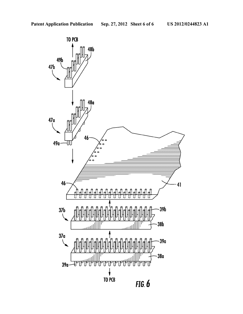 ELECTRONIC DEVICE INCLUDING ELONGATE CONNECTORS BETWEEN STACKED CIRCUIT     BOARDS AND RELATED METHODS - diagram, schematic, and image 07