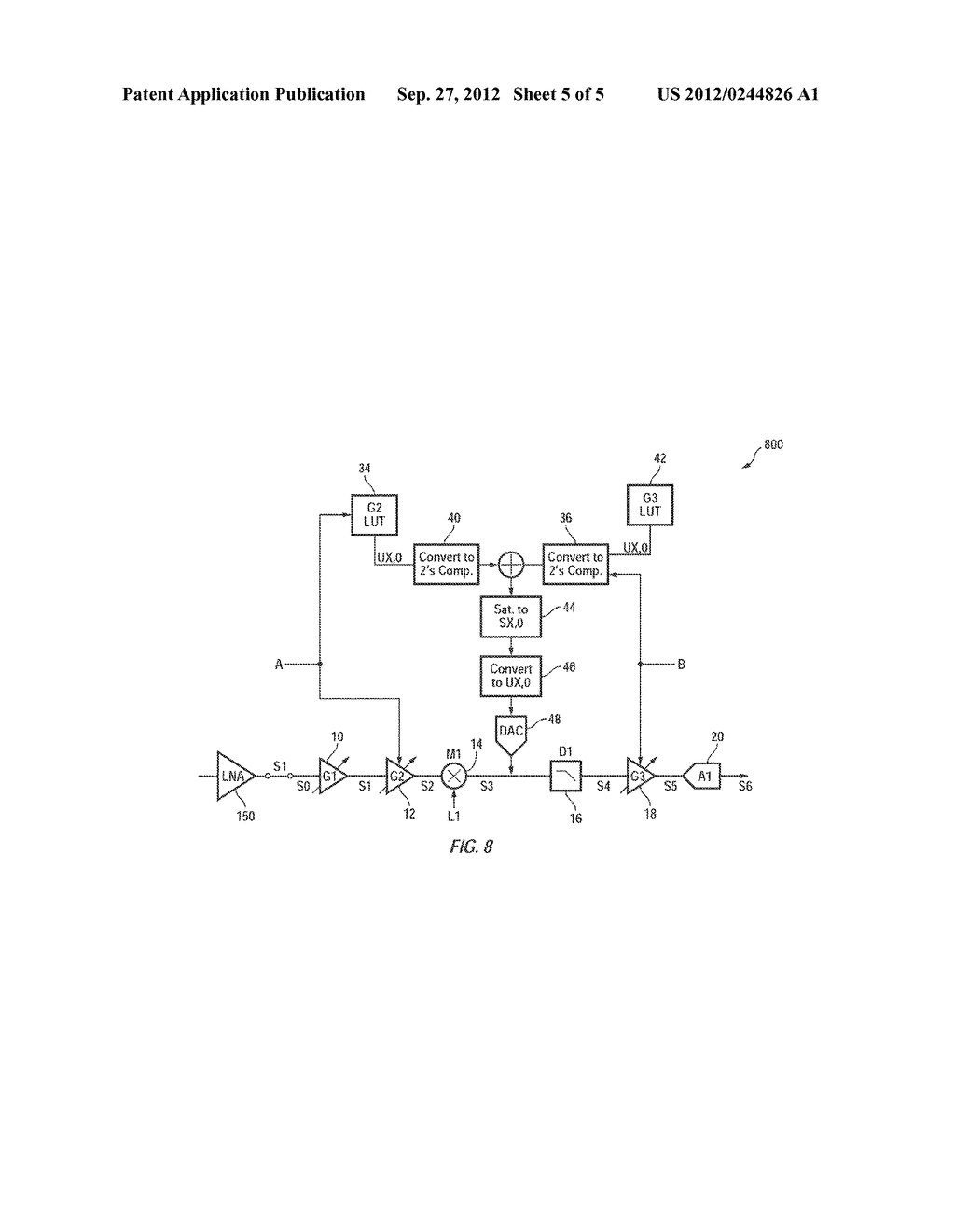 Method and Apparatus for Efficient DC Calibration in a Direct-Conversion     System with Variable DC Gain - diagram, schematic, and image 06