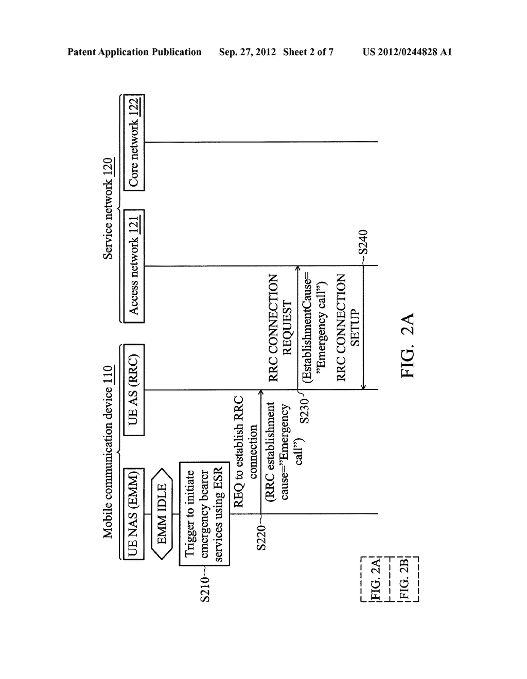 METHODS FOR REQUESTING EMERGENCY BEARER SERVICES FOR LOW PRIORITY DEVICES,     AND APPARATUSES USING THE SAME - diagram, schematic, and image 03