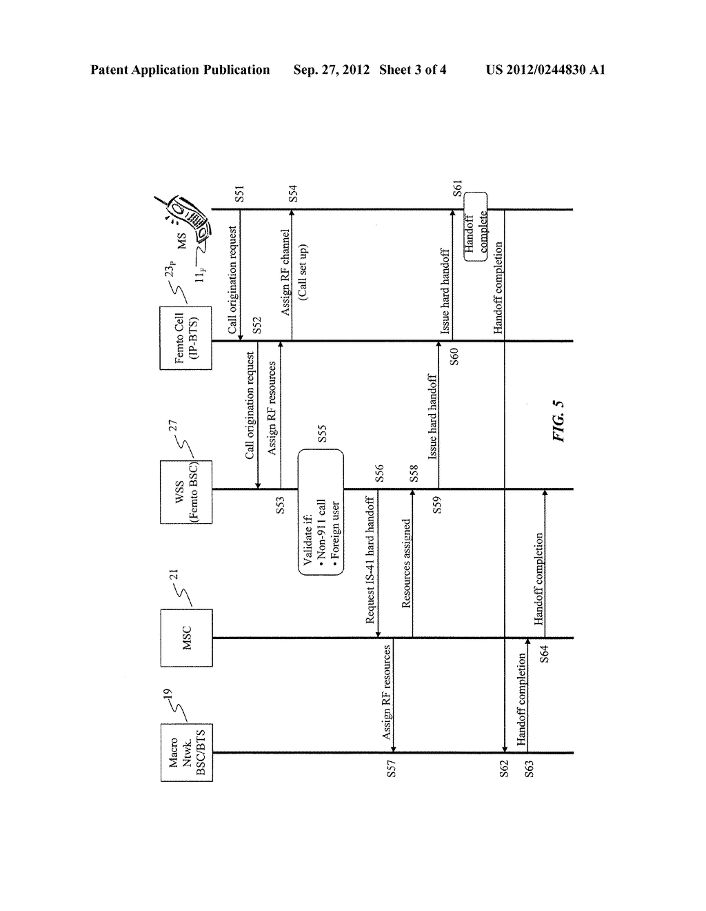 ACTIVE SERVICE REDIRECTION FOR A PRIVATE FEMTO CELL - diagram, schematic, and image 04