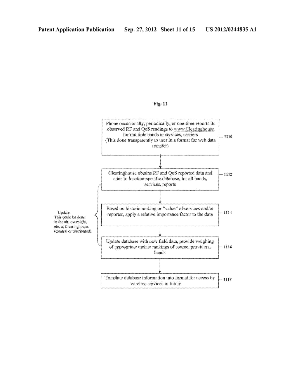 Clearinghouse System, Method, and Process for Inventorying and Acquiring     Infrastructure, Monitoring and Controlling Network Performance for     Enhancement, and Providing Localized Content in Communication Networks - diagram, schematic, and image 12