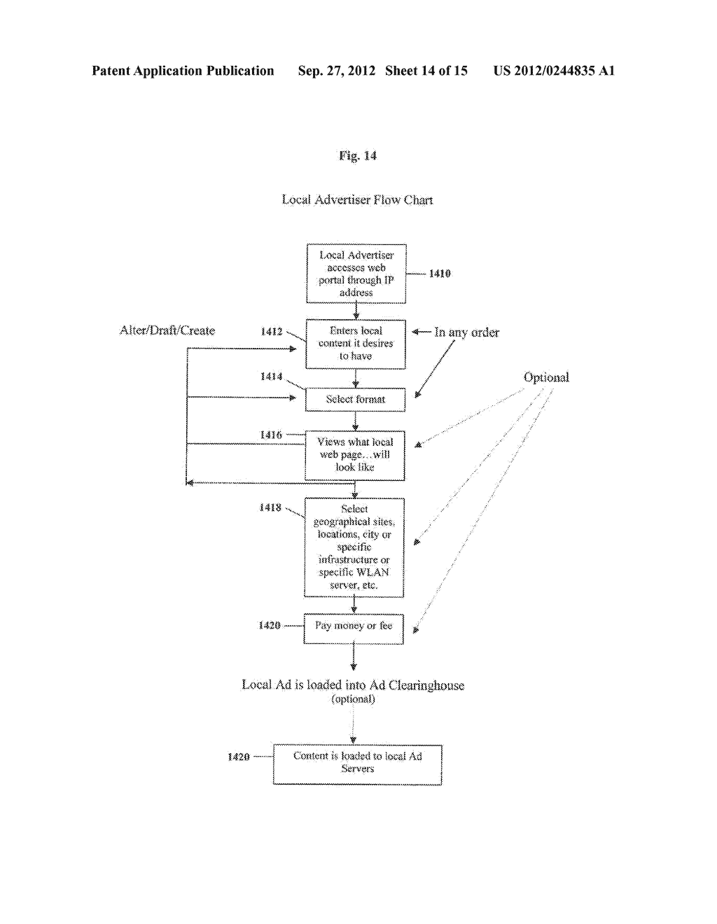 Clearinghouse System, Method, and Process for Inventorying and Acquiring     Infrastructure, Monitoring and Controlling Network Performance for     Enhancement, and Providing Localized Content in Communication Networks - diagram, schematic, and image 15