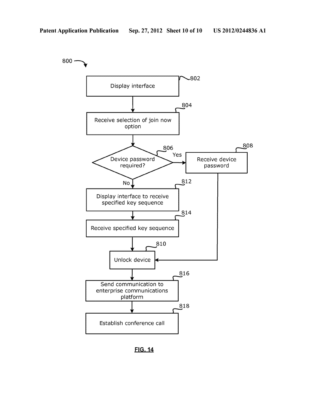 METHOD FOR CONFERENCE CALL PROMPTING FROM A LOCKED DEVICE - diagram, schematic, and image 11