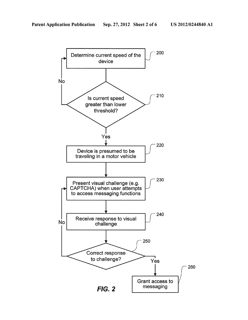 MOTION-BASED DISABLING OF MESSAGING ON A WIRELESS COMMUNICATIONS DEVICE - diagram, schematic, and image 03