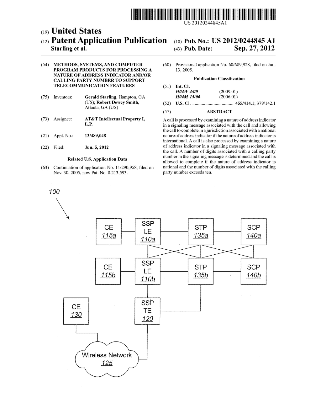 Methods, Systems, and Computer Program Products for Processing a Nature of     Address Indicator and/or Calling Party Number to Support     Telecommunication Features - diagram, schematic, and image 01