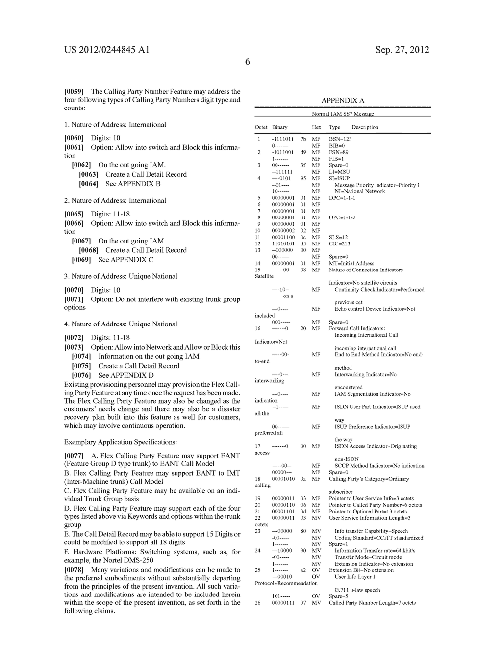Methods, Systems, and Computer Program Products for Processing a Nature of     Address Indicator and/or Calling Party Number to Support     Telecommunication Features - diagram, schematic, and image 10