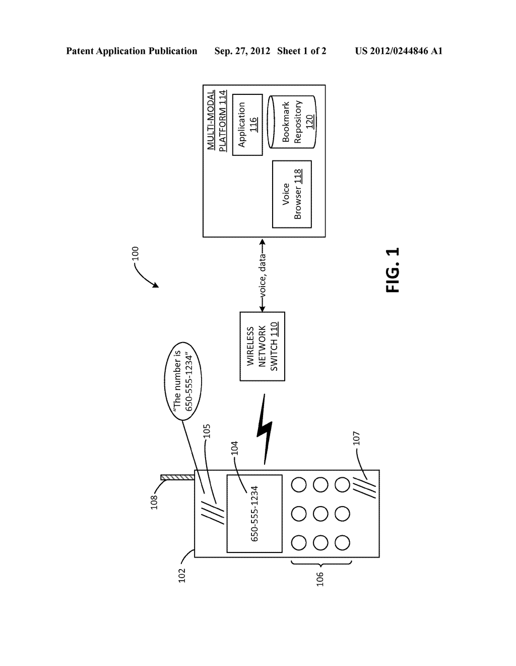 System and Method for Providing Multi-Modal Bookmarks - diagram, schematic, and image 02