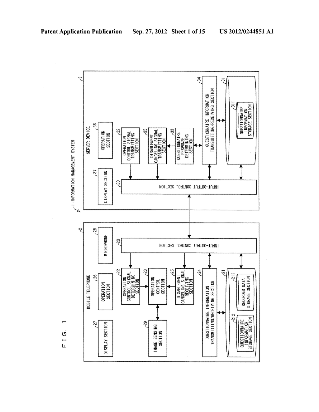INFORMATION MANAGEMENT SYSTEM, MOBILE TERMINAL DEVICE, SERVER DEVICE,     INFORMATION MANAGEMENT METHOD, CONTROL PROGRAM AND COMPUTER-READABLE     RECORDING MEDIUM ON WHICH SAME HAS BEEN RECORDED - diagram, schematic, and image 02