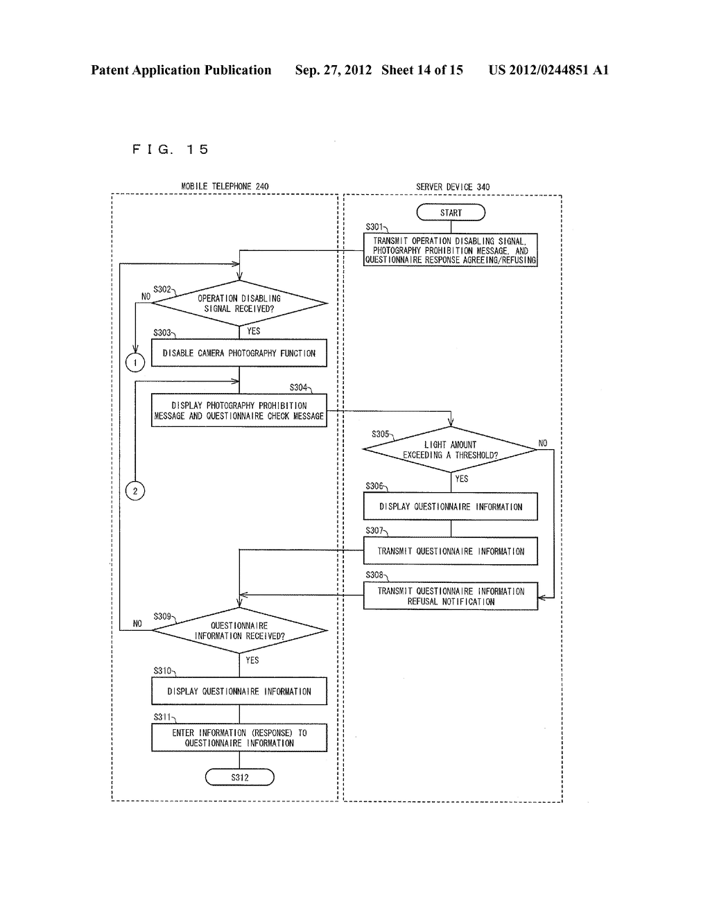 INFORMATION MANAGEMENT SYSTEM, MOBILE TERMINAL DEVICE, SERVER DEVICE,     INFORMATION MANAGEMENT METHOD, CONTROL PROGRAM AND COMPUTER-READABLE     RECORDING MEDIUM ON WHICH SAME HAS BEEN RECORDED - diagram, schematic, and image 15