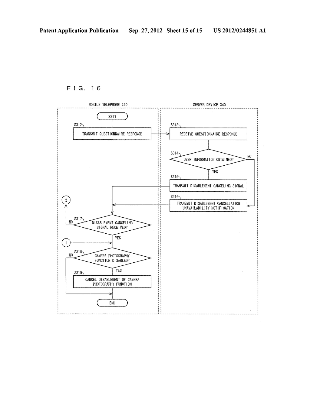 INFORMATION MANAGEMENT SYSTEM, MOBILE TERMINAL DEVICE, SERVER DEVICE,     INFORMATION MANAGEMENT METHOD, CONTROL PROGRAM AND COMPUTER-READABLE     RECORDING MEDIUM ON WHICH SAME HAS BEEN RECORDED - diagram, schematic, and image 16