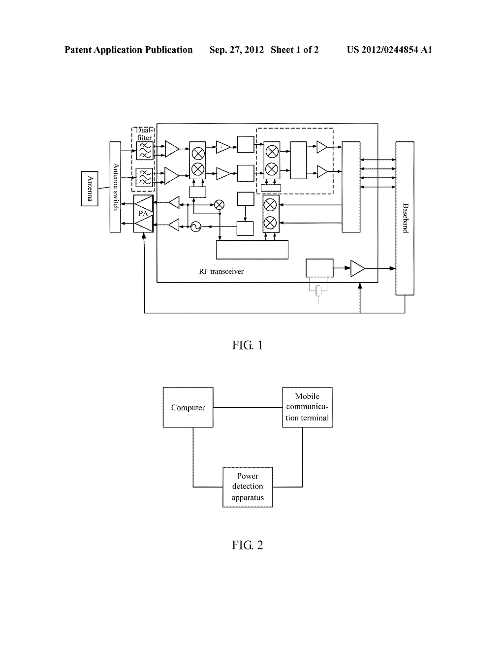 Mobile Communication Terminal and Communication Method Thereof - diagram, schematic, and image 02