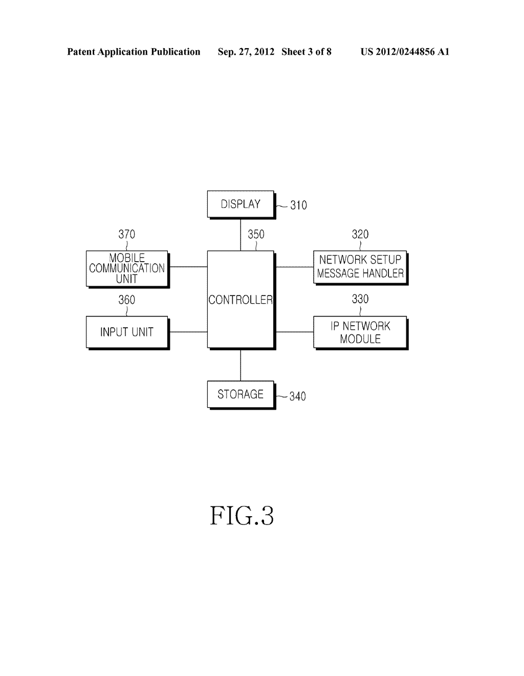 METHOD AND APPARATUS FOR SETTING UP NETWORK FOR IP COMMUNICATION IN MOBILE     TERMINAL - diagram, schematic, and image 04