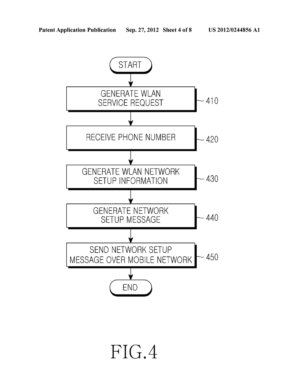 METHOD AND APPARATUS FOR SETTING UP NETWORK FOR IP COMMUNICATION IN MOBILE     TERMINAL - diagram, schematic, and image 05