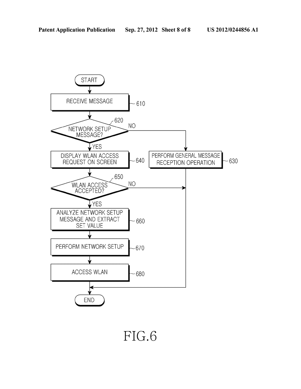 METHOD AND APPARATUS FOR SETTING UP NETWORK FOR IP COMMUNICATION IN MOBILE     TERMINAL - diagram, schematic, and image 09