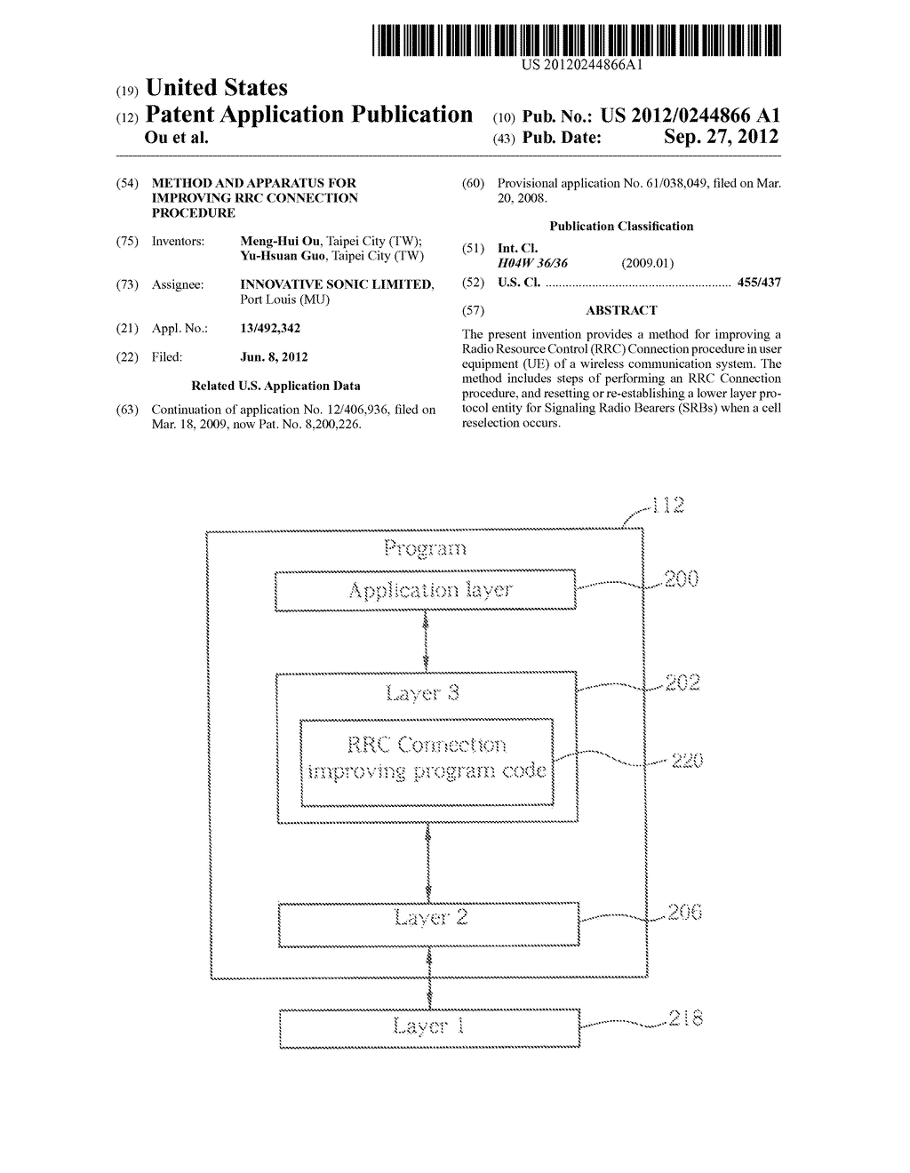 METHOD AND APPARATUS FOR IMPROVING RRC CONNECTION PROCEDURE - diagram, schematic, and image 01