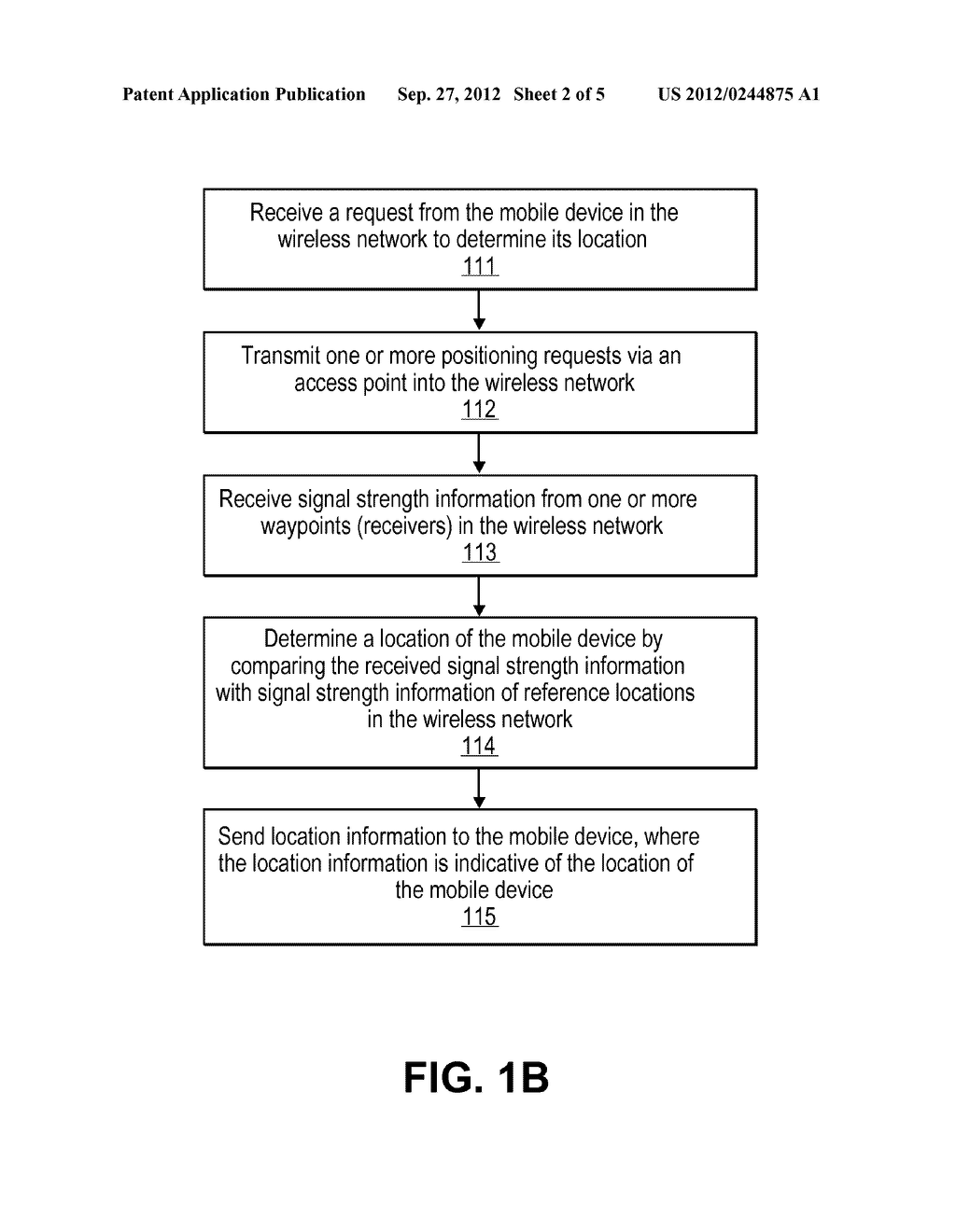 SYSTEM AND METHOD FOR DETERMINING LOCATION OF A WI-FI DEVICE WITH THE     ASSISTANCE OF FIXED RECEIVERS - diagram, schematic, and image 03