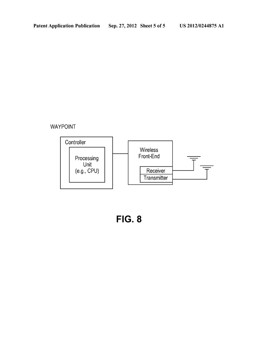 SYSTEM AND METHOD FOR DETERMINING LOCATION OF A WI-FI DEVICE WITH THE     ASSISTANCE OF FIXED RECEIVERS - diagram, schematic, and image 06
