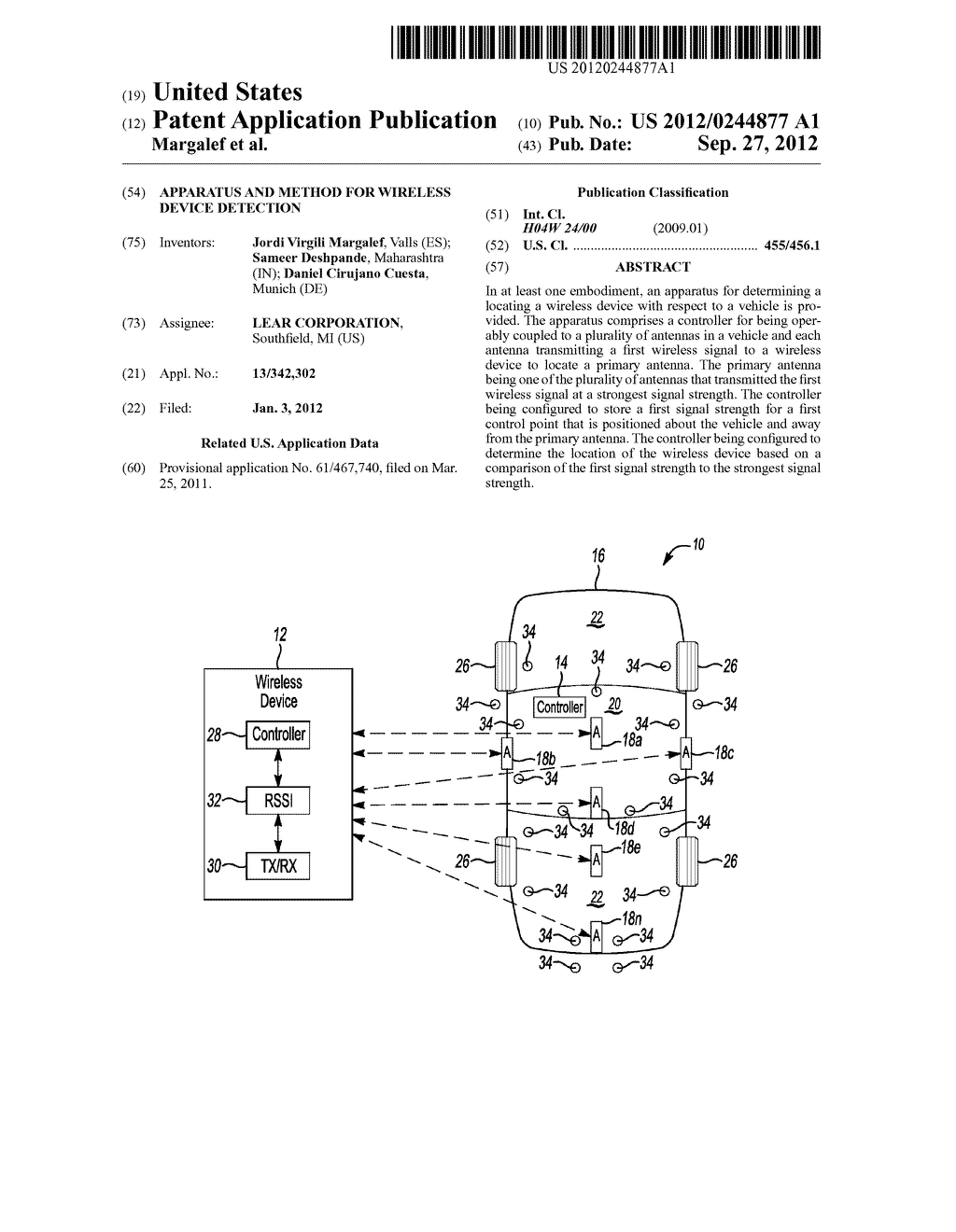 APPARATUS AND METHOD FOR WIRELESS DEVICE DETECTION - diagram, schematic, and image 01