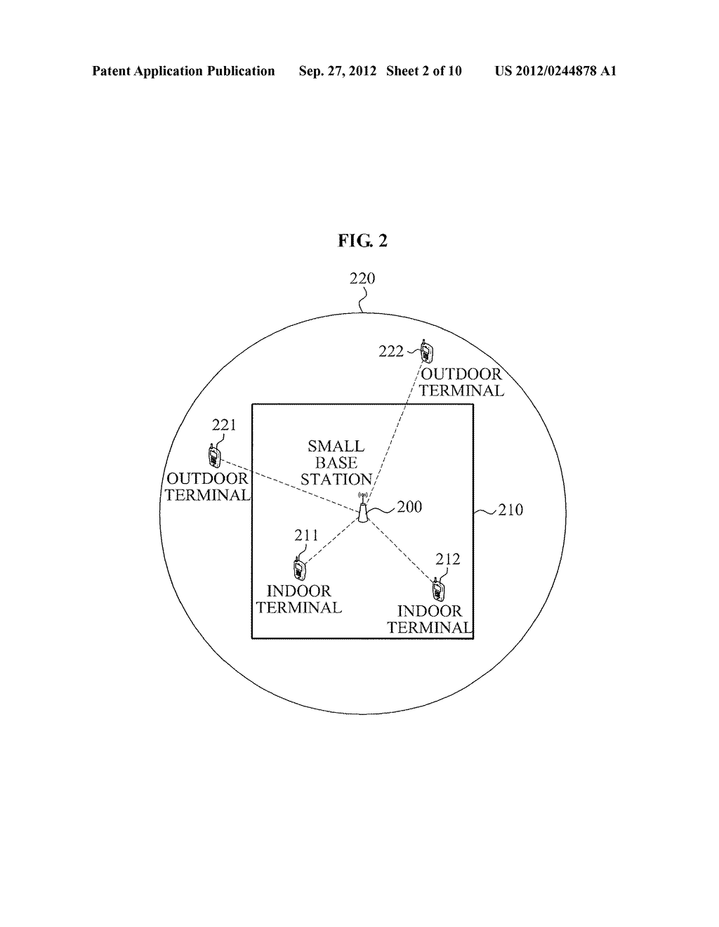 APPARATUS AND METHOD FOR IDENTIFYING TERMINAL LOCATED IN SPACE INCLUDING     SMALL BASE STATION - diagram, schematic, and image 03