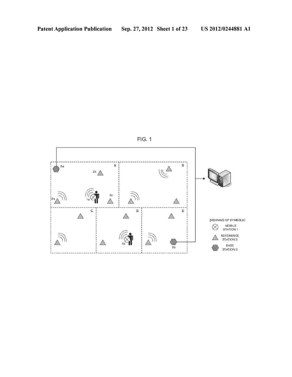 POSITION-DETERMINING DEVICE, POSITION-DETERMINING SYSTEM,     POSITION-DETERMINING METHOD AND PROGRAM - diagram, schematic, and image 02