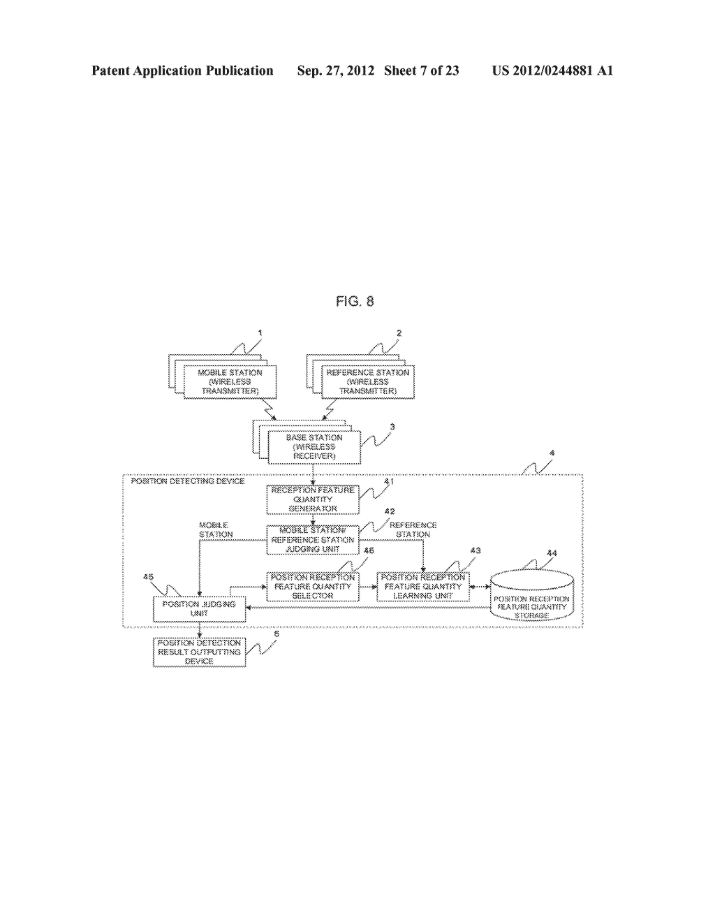 POSITION-DETERMINING DEVICE, POSITION-DETERMINING SYSTEM,     POSITION-DETERMINING METHOD AND PROGRAM - diagram, schematic, and image 08