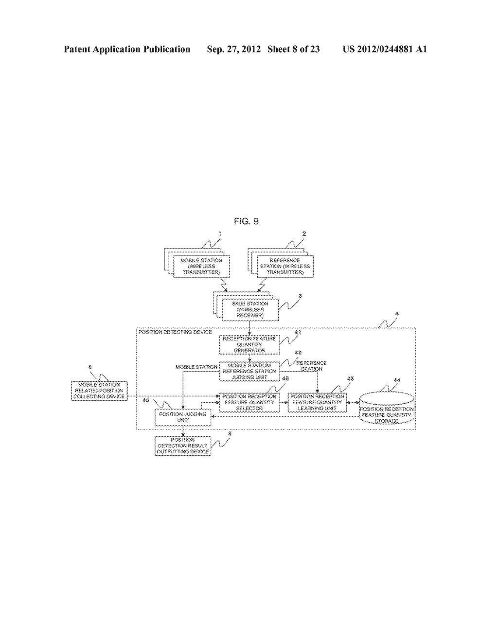 POSITION-DETERMINING DEVICE, POSITION-DETERMINING SYSTEM,     POSITION-DETERMINING METHOD AND PROGRAM - diagram, schematic, and image 09