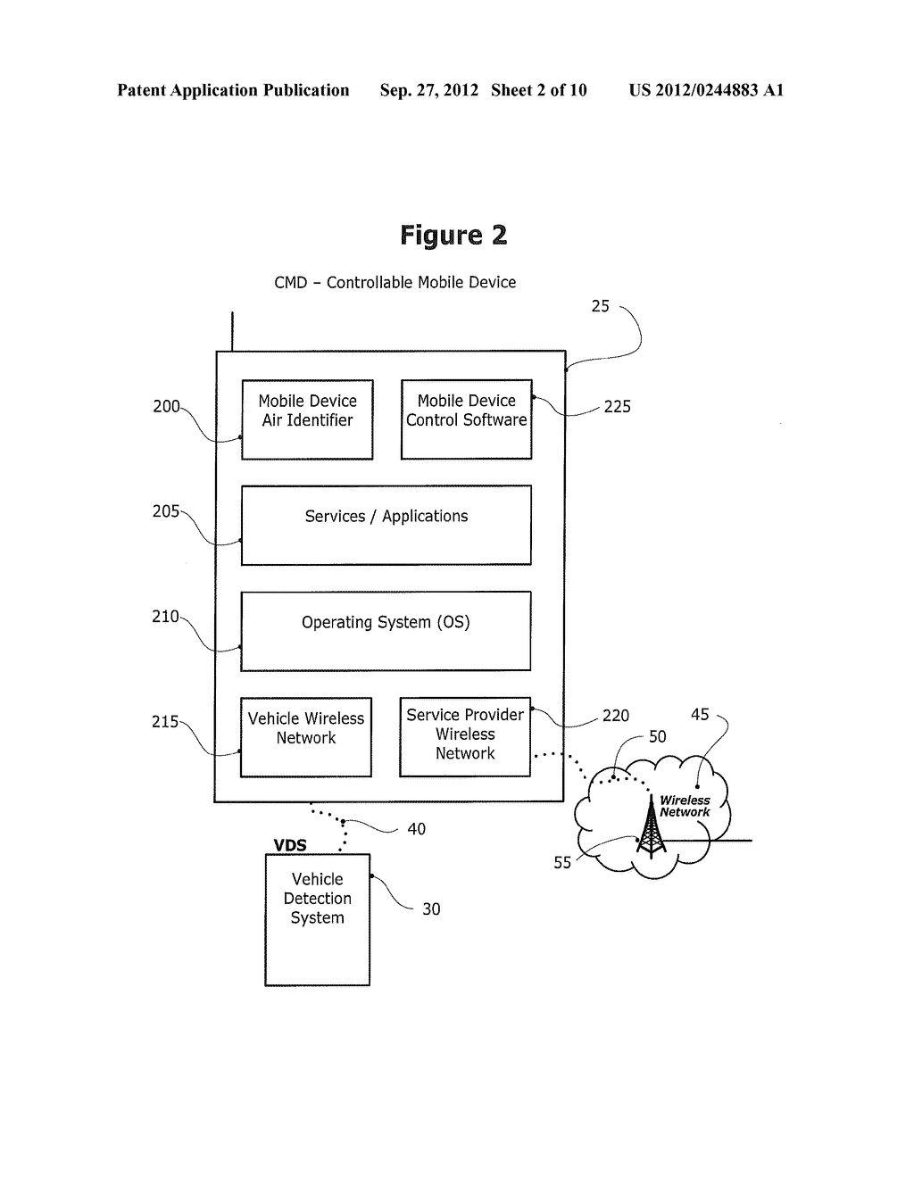 METHOD AND SYSTEM FOR CONTROLLING A MOBILE COMMUNICATION DEVICE IN A     MOVING VEHICLE - diagram, schematic, and image 03