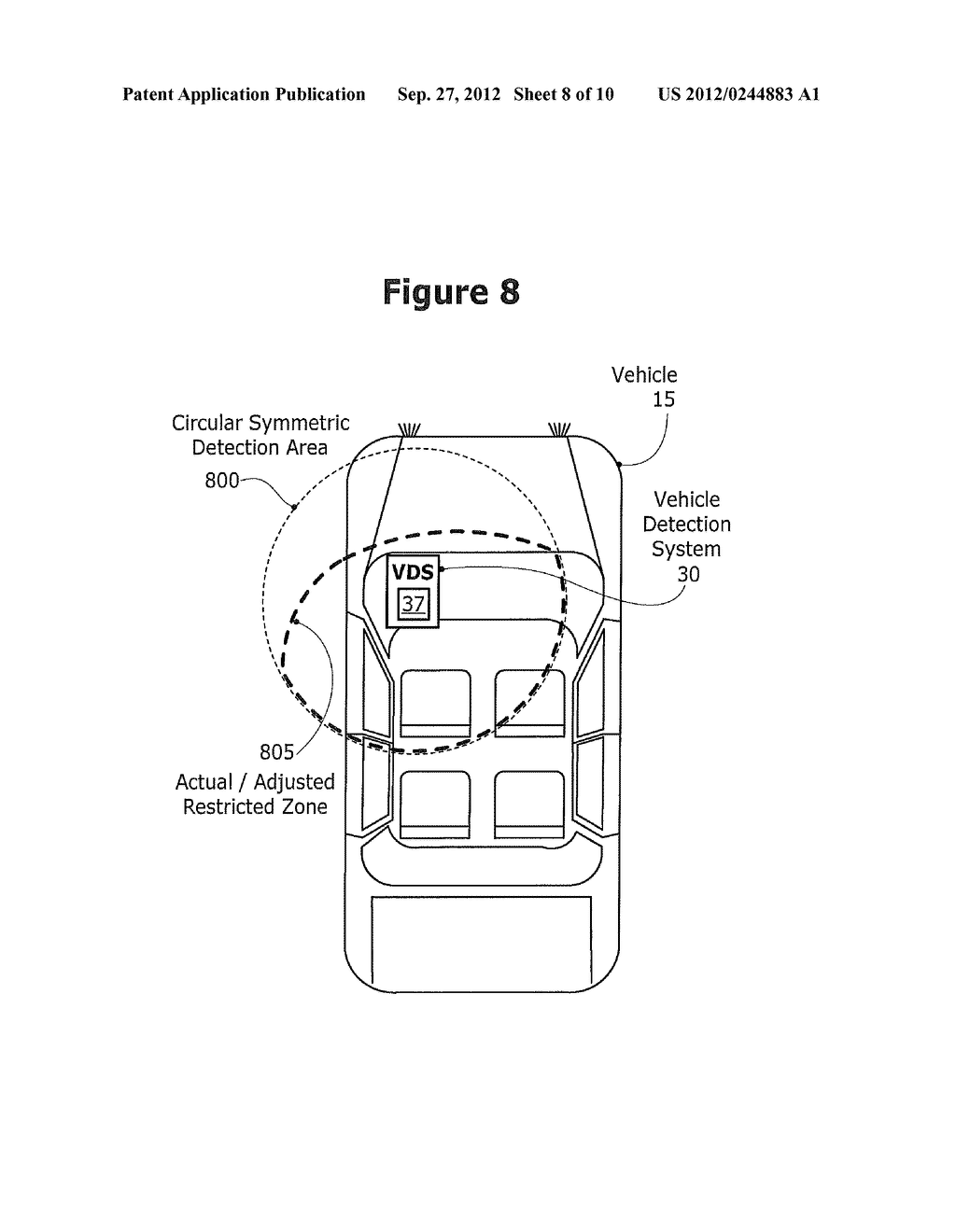 METHOD AND SYSTEM FOR CONTROLLING A MOBILE COMMUNICATION DEVICE IN A     MOVING VEHICLE - diagram, schematic, and image 09