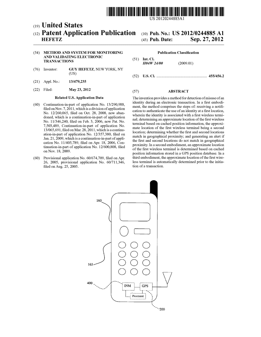 METHOD AND SYSTEM FOR MONITORING AND VALIDATING ELECTRONIC TRANSACTIONS - diagram, schematic, and image 01