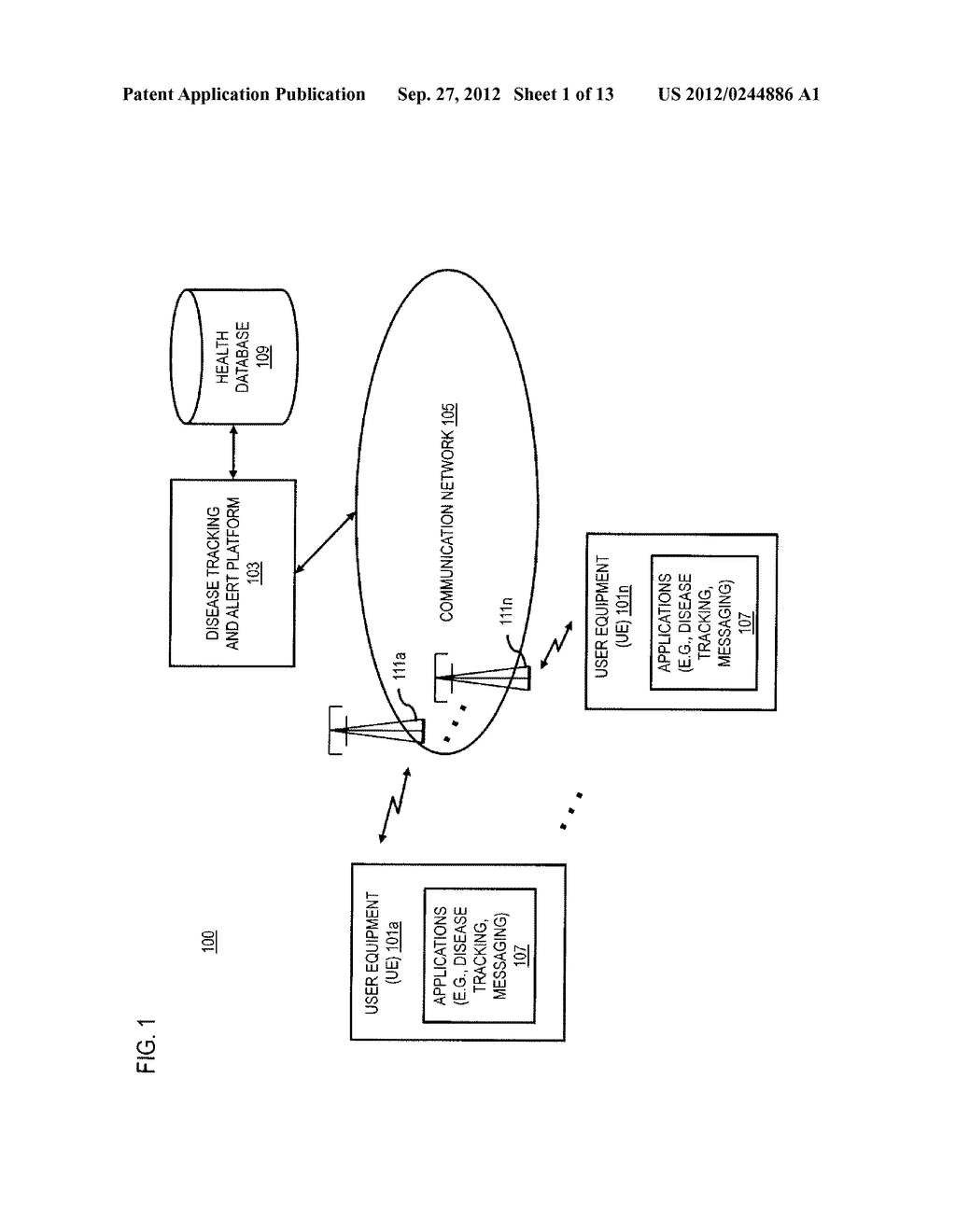 METHOD AND APPARATUS FOR TRACKING AND DISSEMINATING HEALTH INFORMATION VIA     MOBILE CHANNELS - diagram, schematic, and image 02