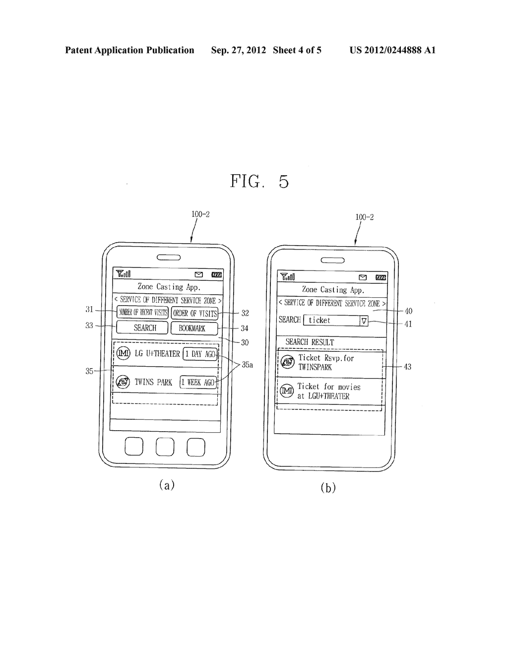TERMINAL AND METHOD FOR PROVIDING ZONE-BASED SERVICE OUTSIDE OF SERVICE     ZONE - diagram, schematic, and image 05