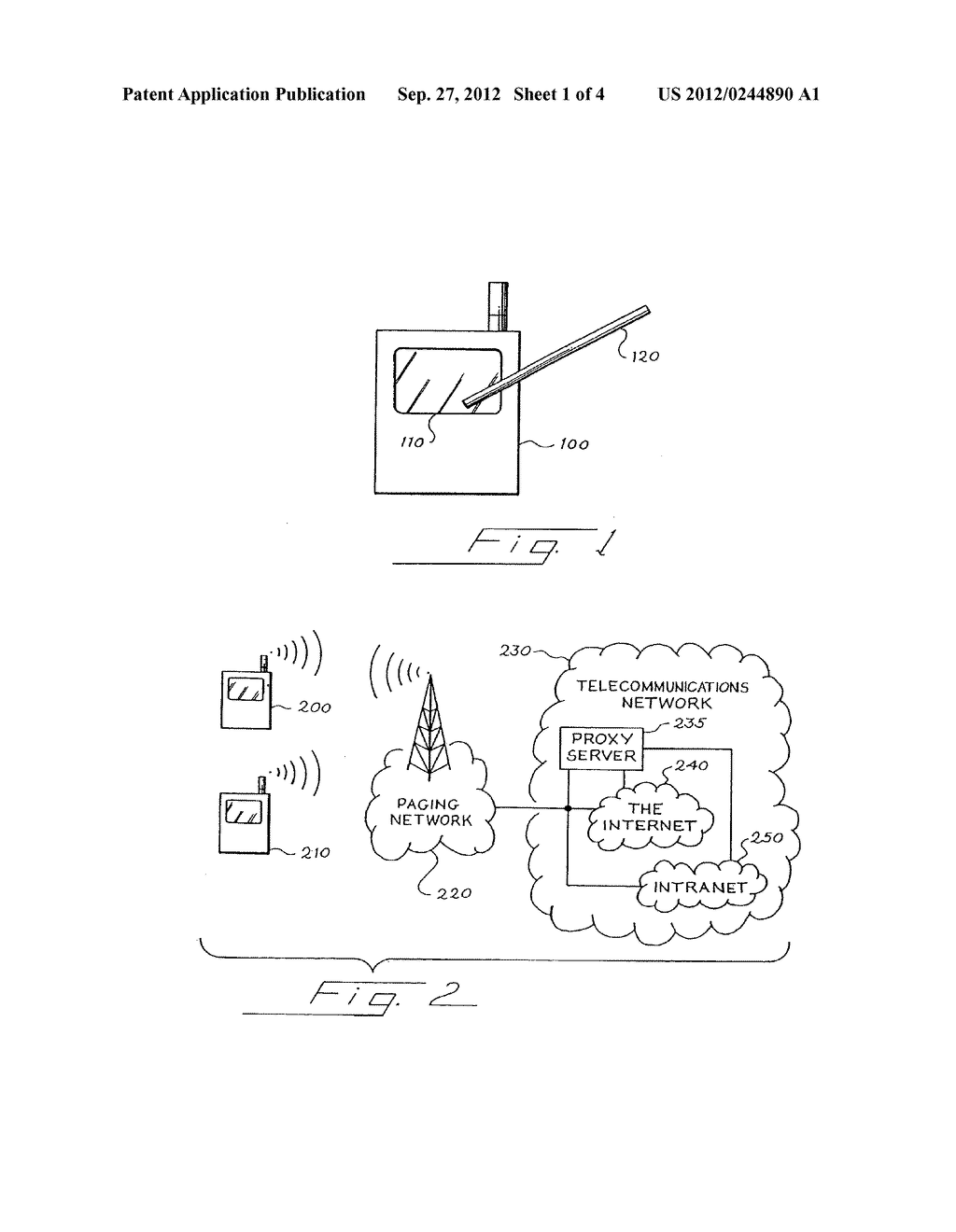 Pager with a Touch-Sensitive Display Screen and Method for Transmitting a     Message Therefrom - diagram, schematic, and image 02