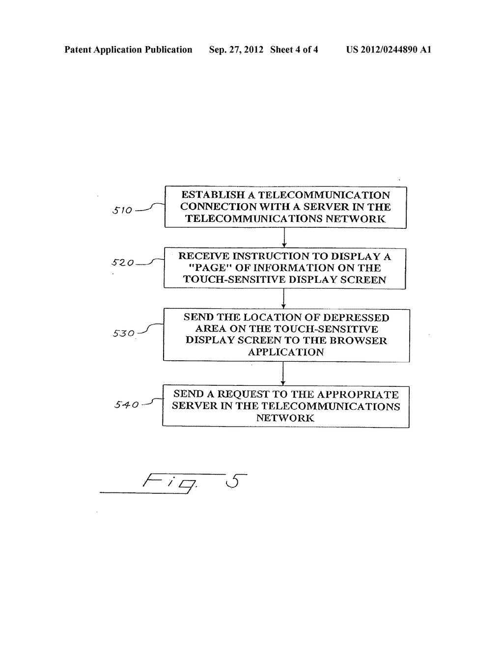 Pager with a Touch-Sensitive Display Screen and Method for Transmitting a     Message Therefrom - diagram, schematic, and image 05