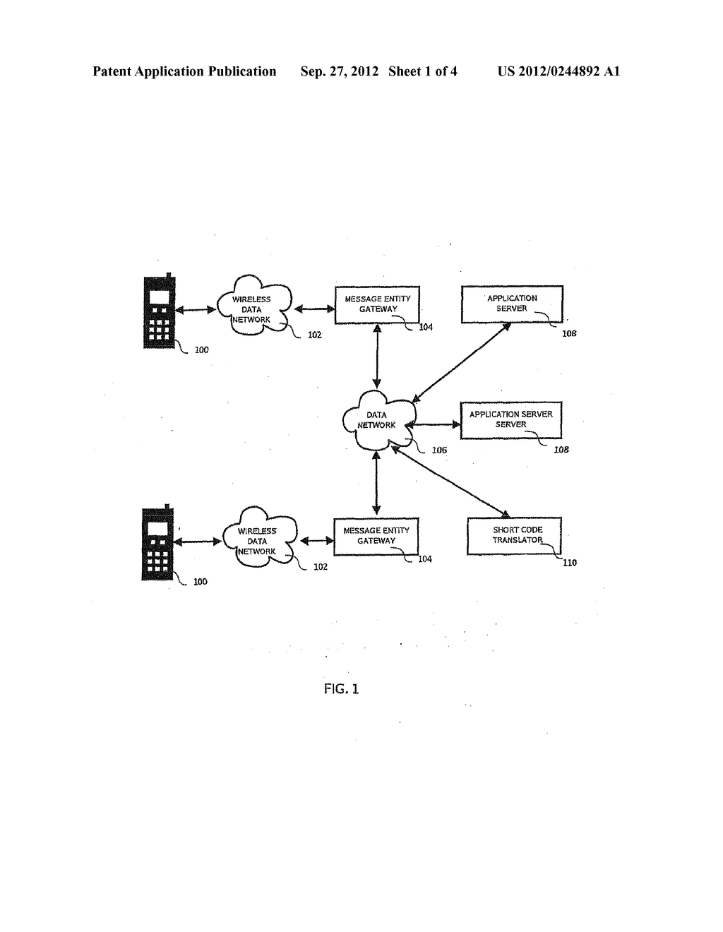 MOBILE MESSAGING SHORT CODE TRANSLATION AND ROUTING SYSTEM AND METHOD - diagram, schematic, and image 02