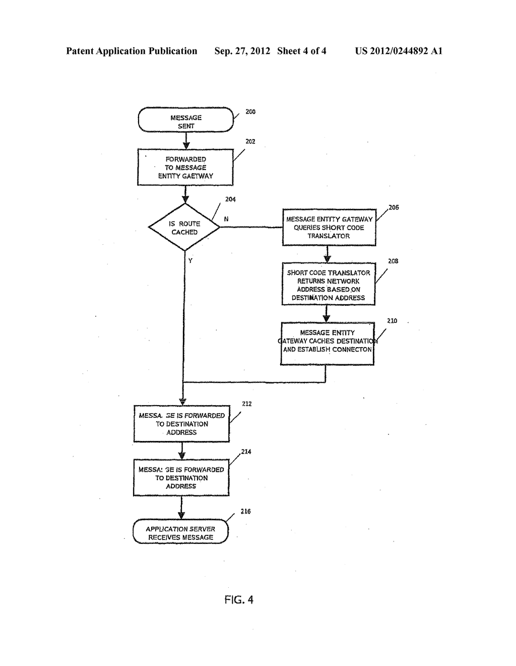 MOBILE MESSAGING SHORT CODE TRANSLATION AND ROUTING SYSTEM AND METHOD - diagram, schematic, and image 05