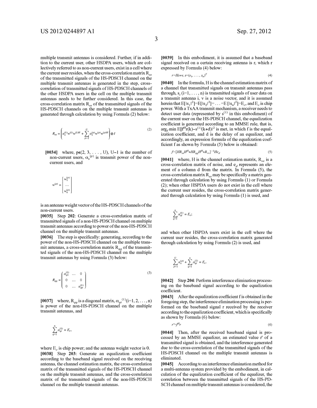 INTERFERENCE ELIMINATION METHOD AND APPARATUS FOR MULTI-ANTENNA SYSTEM - diagram, schematic, and image 09