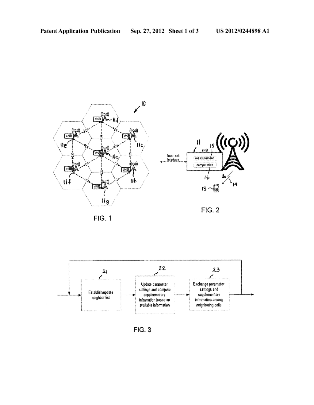 DYNAMIC, DISTRIBUTED COORDINATION OF PARAMETERS IN A CELLULAR     TELECOMMUNICATION NETWORK - diagram, schematic, and image 02