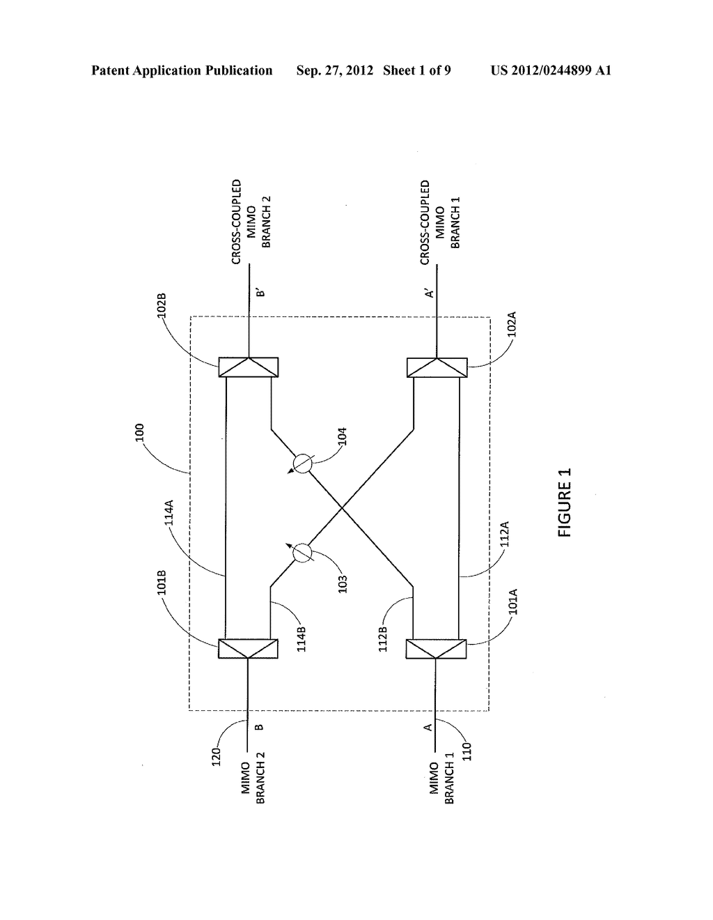 METHOD AND APPARATUS FOR ANTENNA RADIATION CROSS POLAR SUPPRESSION - diagram, schematic, and image 02