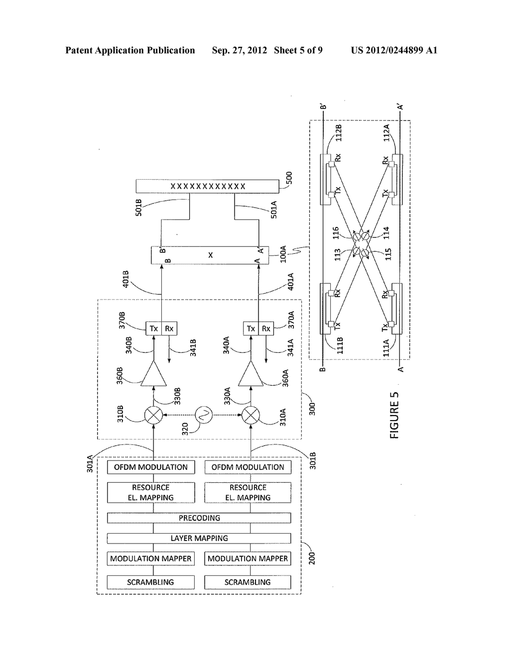 METHOD AND APPARATUS FOR ANTENNA RADIATION CROSS POLAR SUPPRESSION - diagram, schematic, and image 06